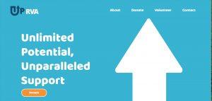 Screenshot of UPRVA's homepage
